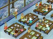Tippingthescales - lunchroom birdseye view