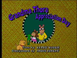 Grandma Thora Appreciation Day Title Card