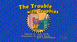 The trouble with trophies Card