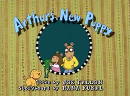 Arthur's New Puppy Title Card