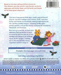Arthur's Perfect Christmas 2012 DVD Back