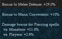 Magic Caster Offensive Modifiers