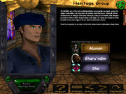 Pre-ToD Character Creation (Heritage Group)