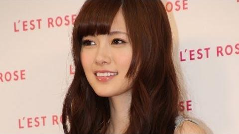 乃木坂46・白石麻衣登場! 「L'EST ROSE」初CM発表会