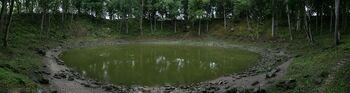 Kaali crater panorama