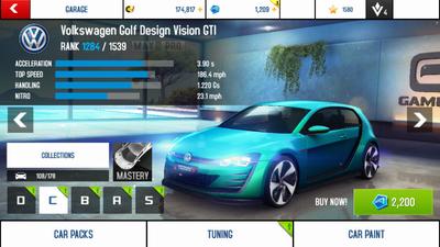 Volkswagen Golf Design Vision GTI stock + new price