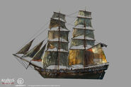 Assassin's Creed IV Black Flag - Ship concept design 6 by kobempire