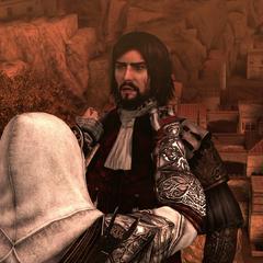 Ezio laat Cesare doodvallen.