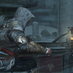 Ezio achtervolgt Leandros