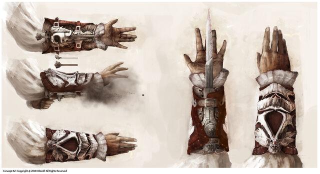 File:Assassin's Hidden Weapons Concept Art.jpg