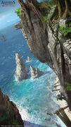 AC4 Island Hideout Cliff - Concept Art