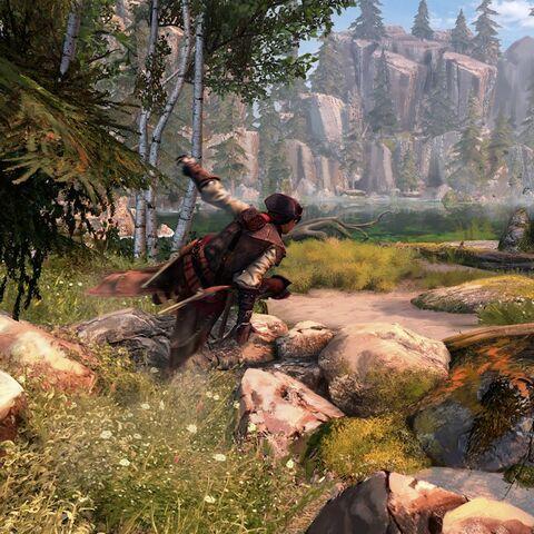 Een schermafbeelding uit de ontwikkelfase van de DLC.