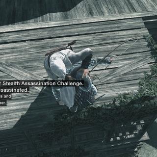 Altaïr vermoordt een boogschutter.
