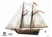 Assassin's Creed IV Black Flag -Ship- Merchant Schooner by max qin