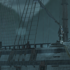 邓肯在英国帆船上