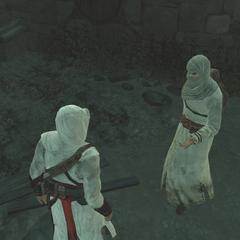De informant deelt de informatie met Altaïr.