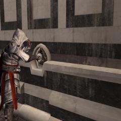 Ezio maakt de doorgang open.
