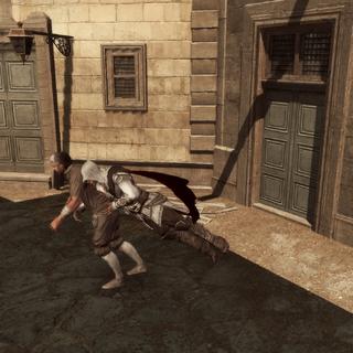 Ezio vangt de dief.