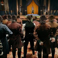 Arno tussen de menigte tijdens de toespraak van de <a href=