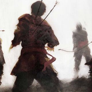 倒在奇普里亚诺·埃努箭下的士兵