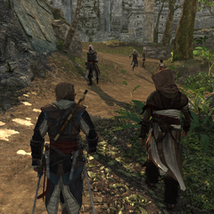 Edward and Ah Tabai walking through Tulum