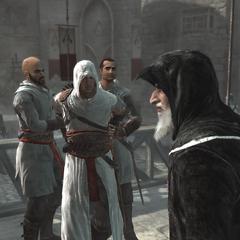 Al Mualim praat over Altaïrs wandaden.