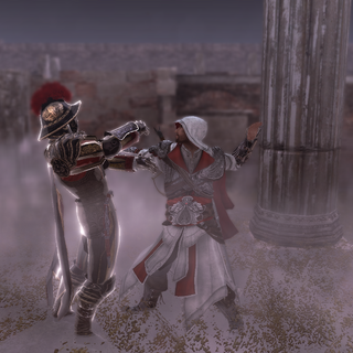 Ezio vermoordt de voorman.