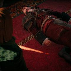 Arno ziet het lijk van zijn vader