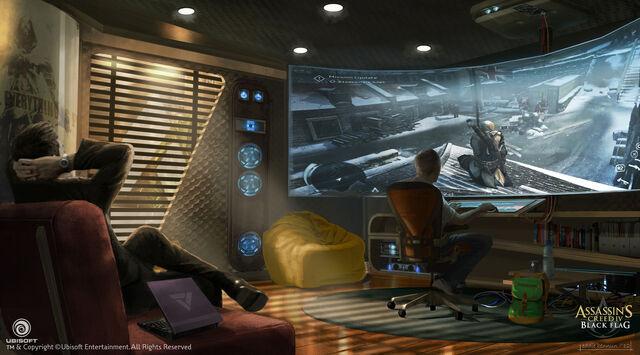 File:Assassin's Creed IV Black Flag Abstergo Entertainment Concept Art by EddieBennun.jpg