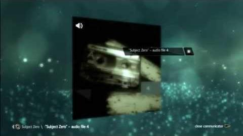 "AE files:""Subject Zero"" - audio file 4"