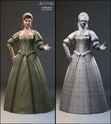 AC2 Alternate female civilian Concept renders by Nicolas Collings