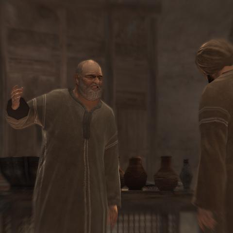 De twee mannen voeren een gesprek.