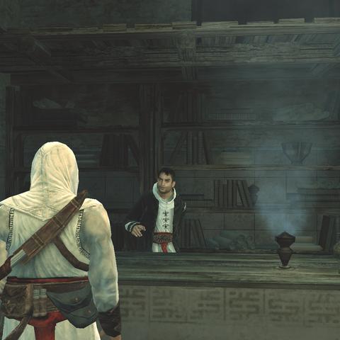 Altaïr deelt zijn kennis met Malik.