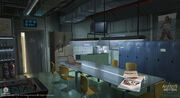 Assassin's Creed IV Black Flag Abstergo Entertainment Staff Room Concept Art by EddieBennun