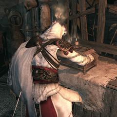 Ezio opent de schatkist