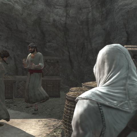Het gesprek tussen de vrouw en de wever.