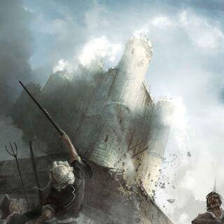 市民猛攻堡垒围墙