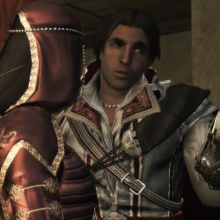 Ezio laat zijn mes zien.