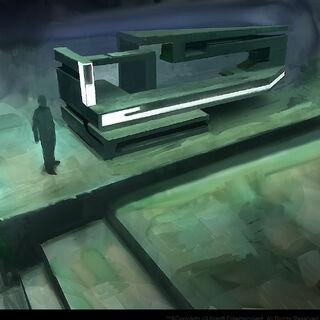 Technologie van de eerste beschaving in de Grote Tempel.