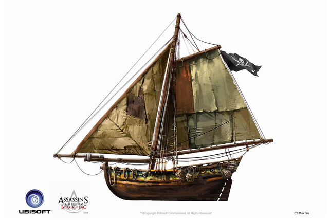 File:Assassin's Creed IV Black Flag -Ship- Pirate Gunboat by max qin.jpg