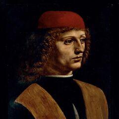 <b>音乐家肖像</b><br />(Portrait of a Musician)<br /> 达芬奇
