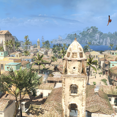 Edward Kenway on a viewpoint in Havana