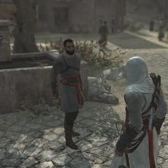 Rauf groet Altaïr.
