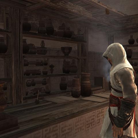 Altaïr deelt informatie met de Rafiq.