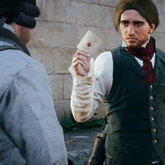 Arno wil de brief wel bezorgen