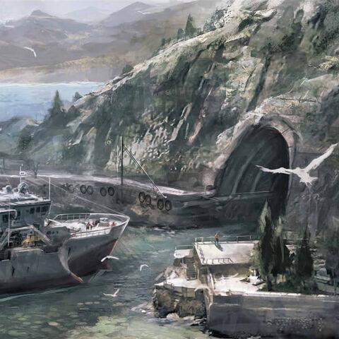 阿泰尔II号停泊在威廉的藏身处附近