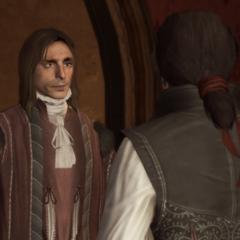 Giovanni geeft Ezio een opdracht.