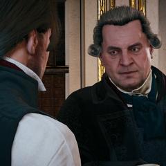 François vertelt Arno over de aankomst van Élise