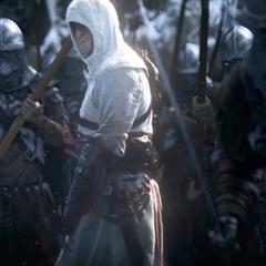 Een visioen van Altaïr leidt Ezio af