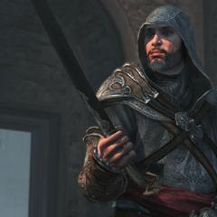 Ezio met zijn <a href=